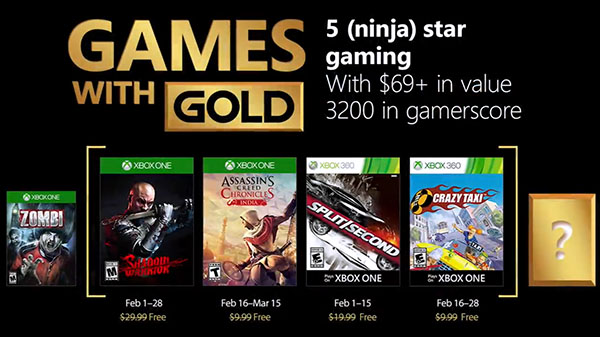 Xbox Live Gold free games for February 2018