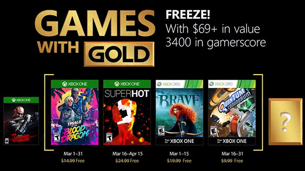 Xbox Live Gold free games for March 2018