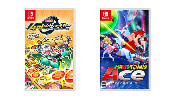 Sushi Striker: The Way of Sushido and Mario Tennis Aces