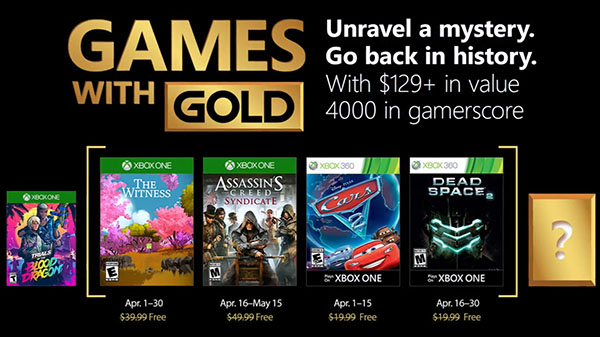 Xbox Live Games with Gold for April 2018