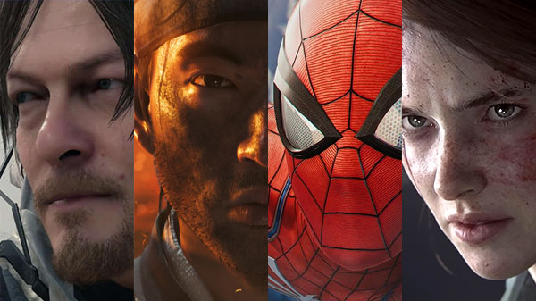 Death Stranding, Ghost of Tsushima, Marvel's Spider-Man, and The Last of Us Part II