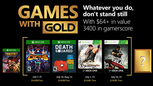 Xbox Live Gold free games for July 2018