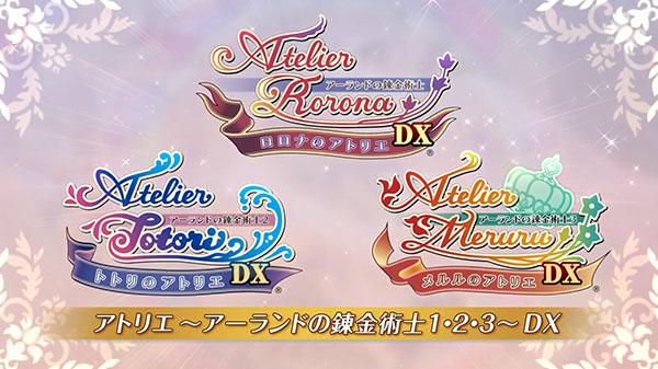 Atelier Rorona DX, Atelier Totori DX, and Atelier Meruru DX