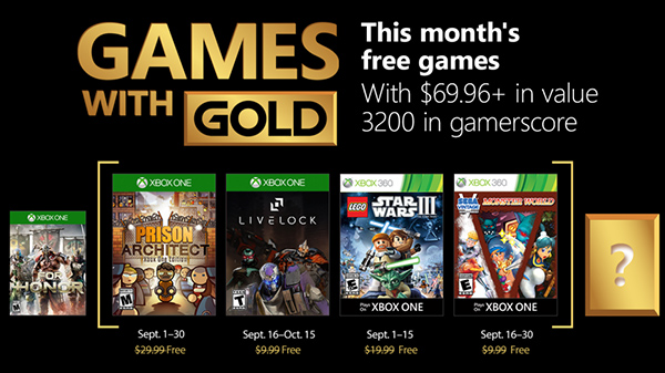 Xbox Gold Games September 2020.Xbox Live Gold Free Games For September 2018 Announced Gematsu