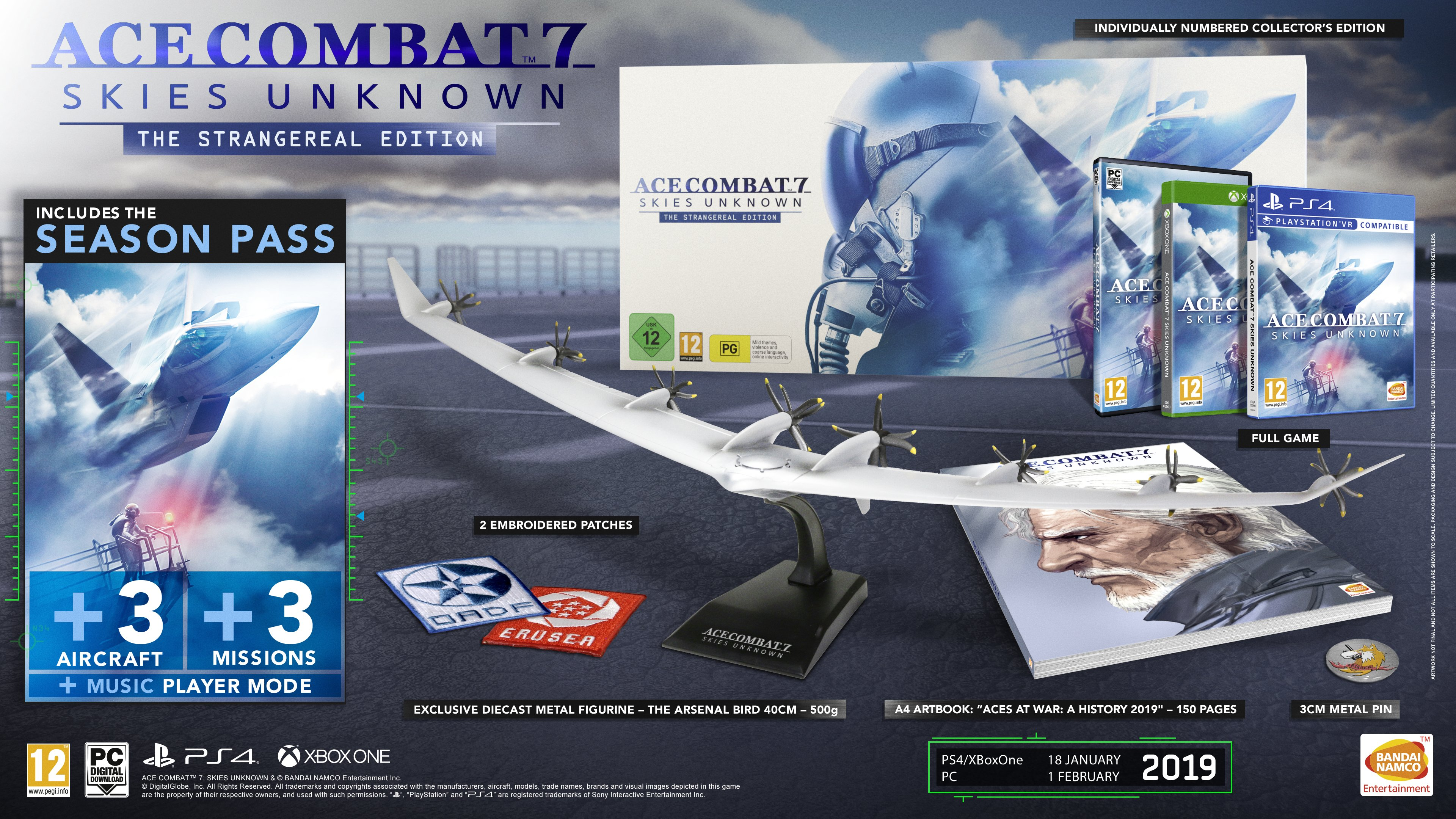 Ace Combat 7: Skies Unknown collector's edition announced