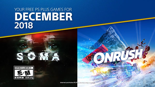 PlayStation Plus free games for December 2018