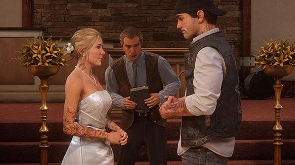Days Gone 'Sarah and Deacon's Wedding' trailer   Gematsu