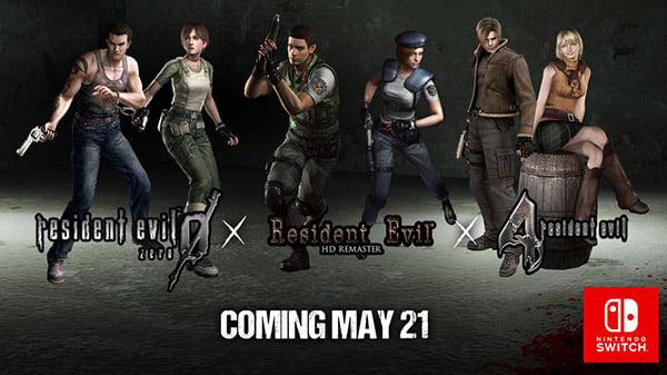 Resident Evil, Resident Evil 0, and Resident Evil 4