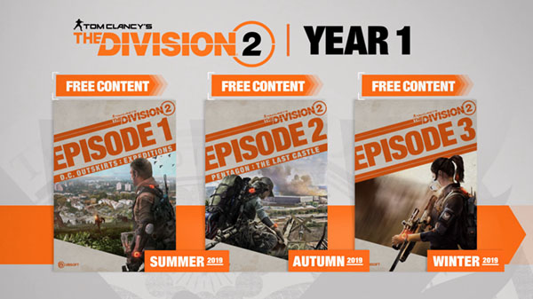 The Division 2 details free post-launch content, Year 1 Pass - Gematsu