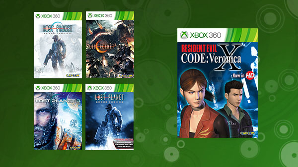 Lost Planet 1, 2, 3, Colonies, and Resident Evil: Code Veronica X