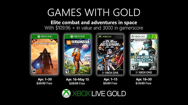 Xbox Live Gold free games for April 2019