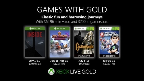 Xbox Live Gold free games for July 2019