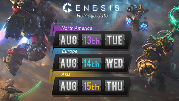 Genesis launches August 13 in North America, August 14 in Europe, and August 15 in Asia - Gematsu