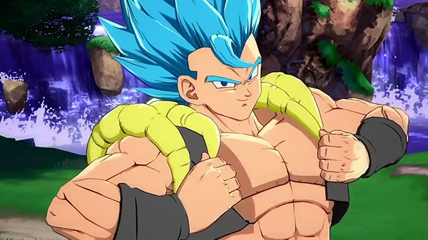 Dragon Ball FighterZ DLC character Gogeta (SSGSS) gameplay - Gematsu