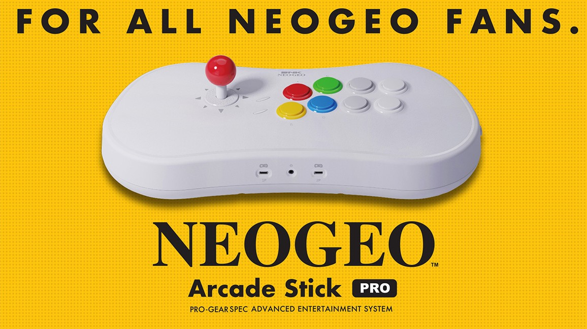 NEOGEO Arcade Stick Pro is a fighting stick with 20 classic