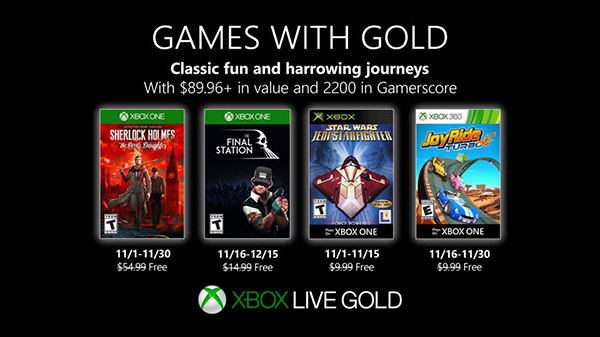 Xbox Live Gold free games for November 2019