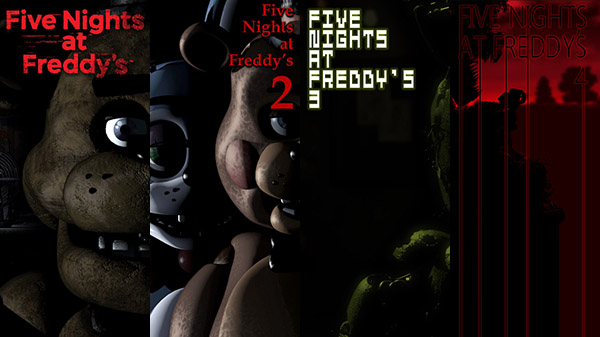 Five Nights at Freddy's 1, 2, 3, and 4