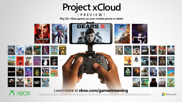 Project xCloud preview adds over 50 games, additional device and input types