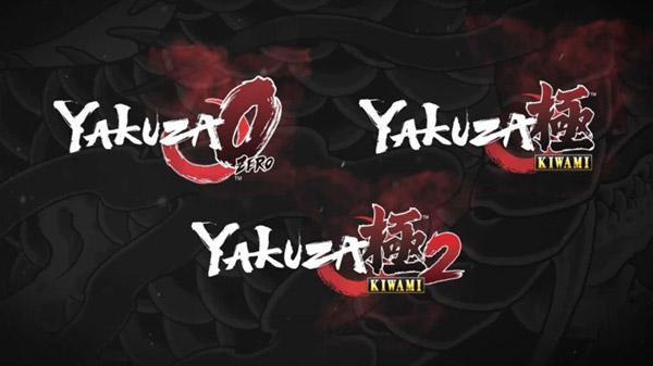 Yakuza 0, Yakuza: Kiwami, and Yakuza: Kiwami 2