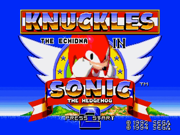 Sega Ages Sonic the Hedgehog 2 includes Knuckles in Sonic 2
