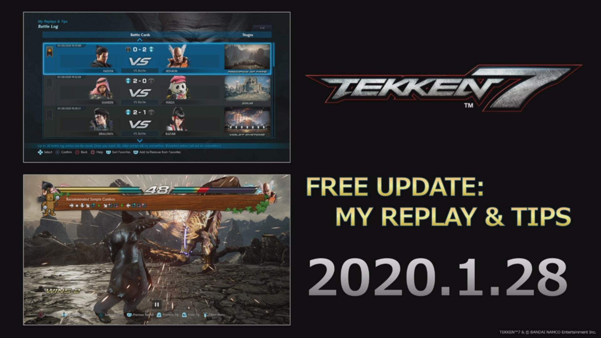 Tekken 7 My Replay Tips Update Launches January 28 Gematsu
