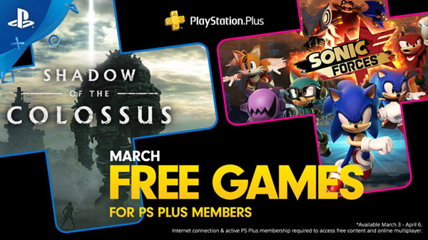 PlayStation Plus free games for March 2020
