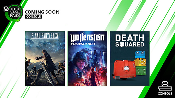 Xbox Game Pass for Console adds Final Fantasy XV and Wolfenstein: Youngblood on February 6, Death Squared on February 13