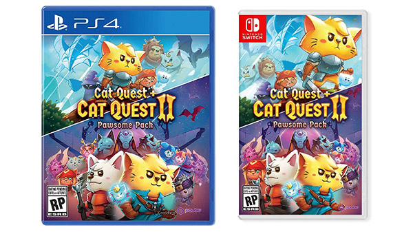 Cat Quest + Cat Quest II Pawsome Pack for PS4, Switch launches July 31