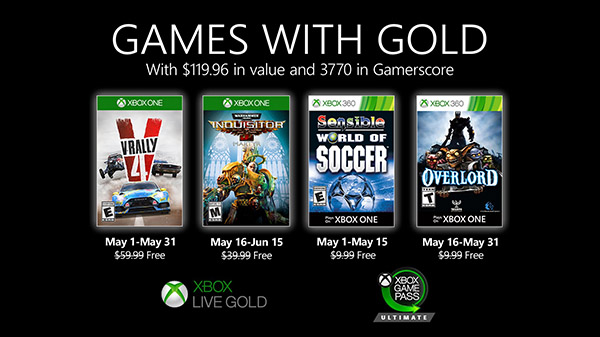 Xbox Live Gold free games for May 2020 announced