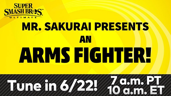Super Smash Bros. Ultimate DLC character from ARMS video presentation set for June 22