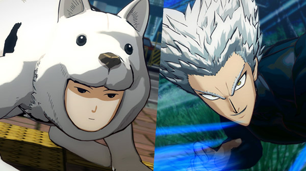 One Punch Man: A Hero Nobody Knows DLC characters Watchdog Man and Garou