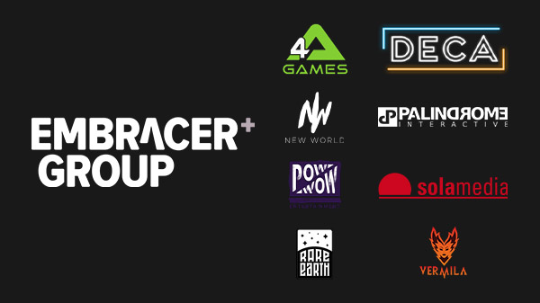 Embracer Group acquires 4A Games, DECA Games, New World Interactive, Palindrome Interactive, Pow Wow Entertainment, Sola Media, Rare Earth Games, and Vermila Studios