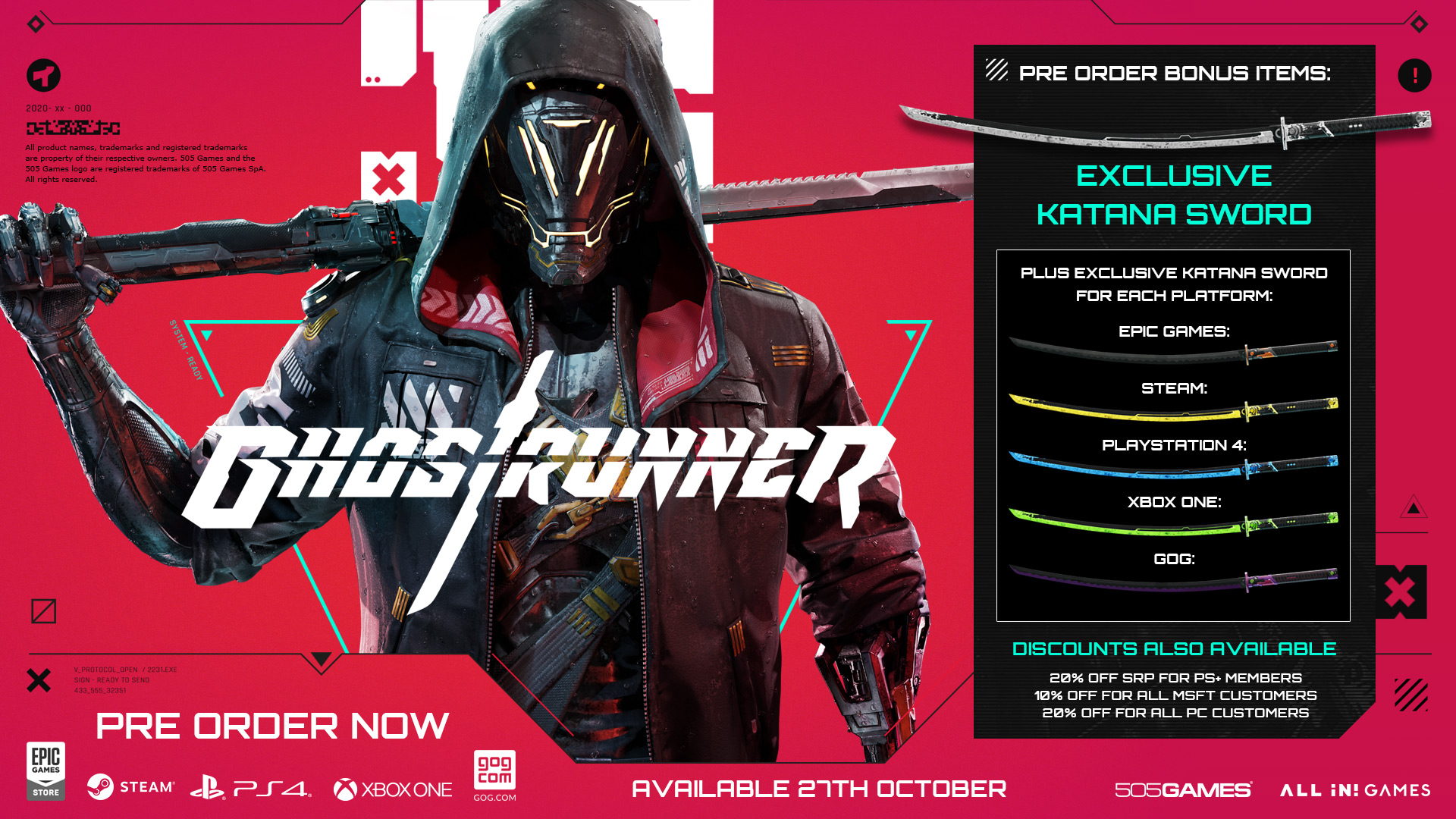 Cyberpunk Ninja Game Ghostrunner Gets October Release Date