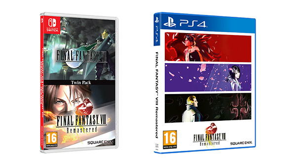 Final Fantasy VII and Final Fantasy VIII Remastered Twin Pack for Switch, and Final Fantasy VIII Remastered for PS4 physical editions launch December 4 in Europe