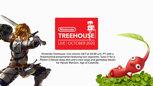 Nintendo Treehouse Live featuring Pikmin 3 Deluxe and Hyrule Warriors: Age of Calamity