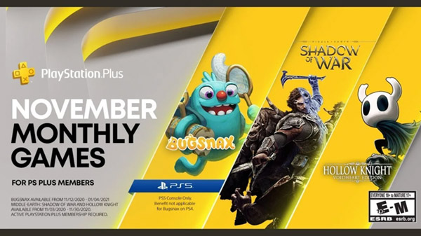 PlayStation Plus free games for November 2020 announced