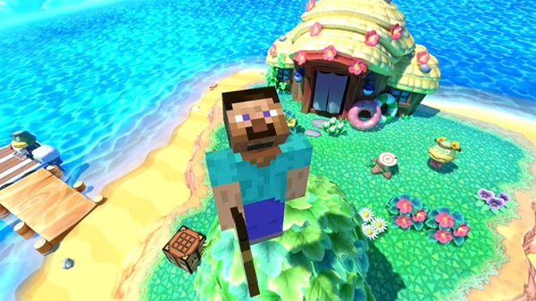 Super Smash Bros. Ultimate DLC character Steve from Minecraft