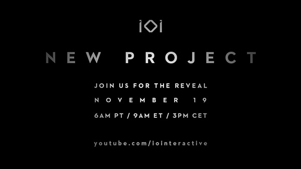 IO Interactive to announce new project on November 19