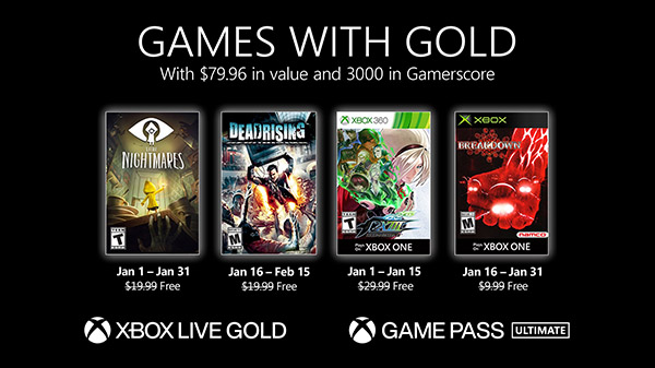Xbox Live Gold free games for January 2021 announced