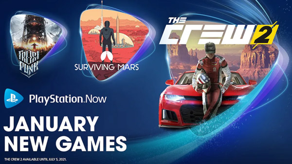 PlayStation Now adds The Crew 2, Surviving Mars, and Frostpunk: Console Edition in January