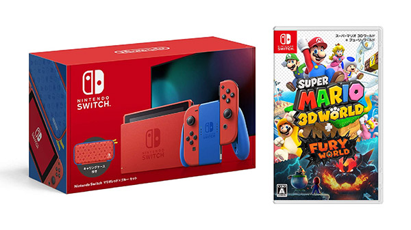 This Week's Japanese Game Releases: Super Mario 3D World + Bowser's Fury, Switch Mario Red + Blue Set, more