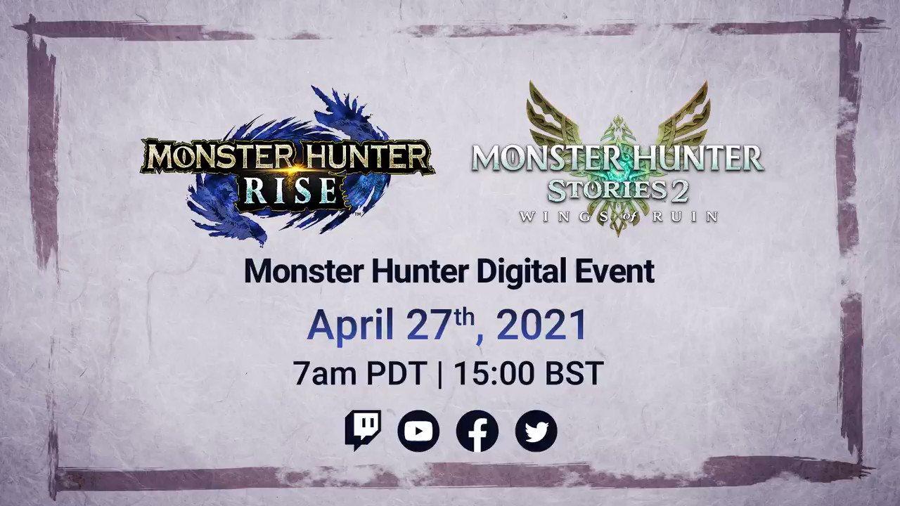 Monster Hunter Digital Event: April 27, 2021