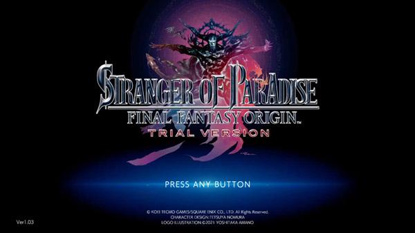 Stranger of Paradise: Final Fantasy Origin Trial Version