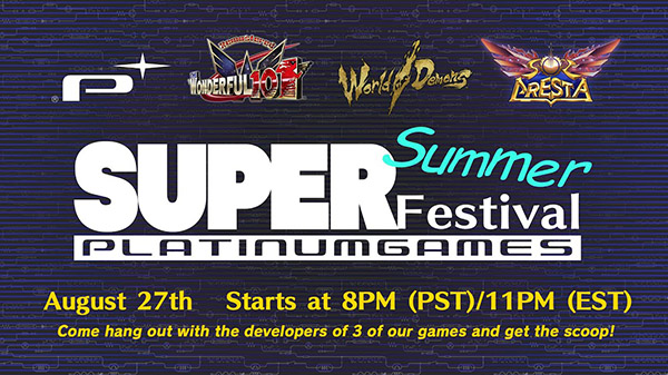 PlatinumGames Super Summer Festival live stream