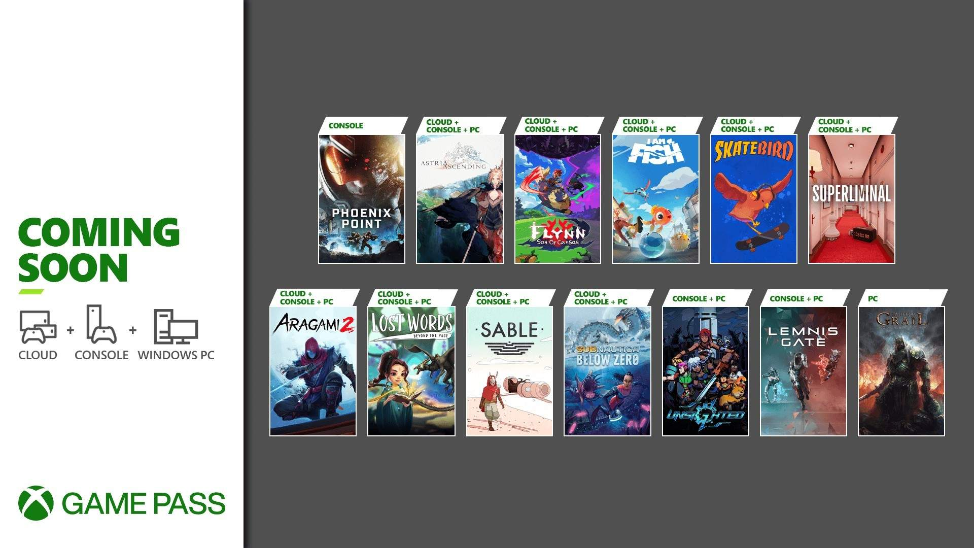 Xbox Game Pass adds Sable, Lemnis Gate, Aragami 2, and more in late September - Gematsu
